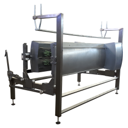 Plucker machine for automatically defeathering chicken carcasses