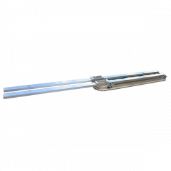 Pneumatic Line Tensioner for overhead conveyors in poultry processing plants