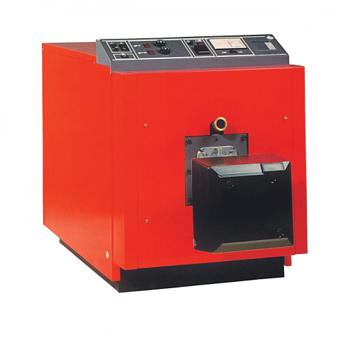 Hot Water Boiler for supplying hot water to radiators of scalding tank in a poultry processing line or plant